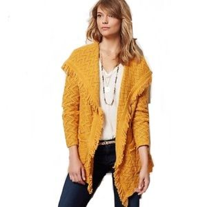 Anthropologie Angel of the North Fringe Cardigan